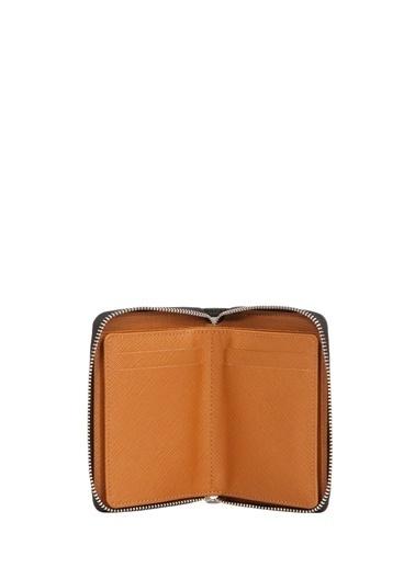 Cengiz Pakel 13694 Deri Çift Renk Detaylı Orta Boy Cüzdan Unisex Renkli